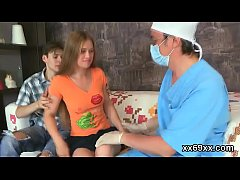 Doctor stares hymen physical and virgin girl ba...