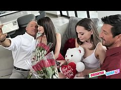 Valentines Day Daughter Orgy - Aften Opal, Hime Marie - FULL SCENE on http:\/\/DaughterSwap3X.com