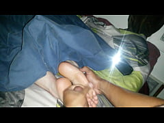 jacking, exploding a load on ex gfs meaty soft sleeping white soles