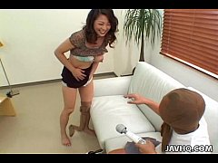 Busty Marie Sugimoto vibrator and fingering ple...