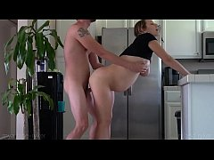 9 Months Pregnant Pounded in the Kitchen