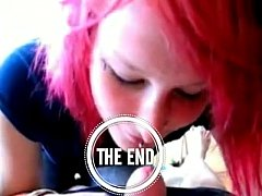 Emo redhead loves to swallow - redcams.co