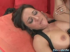 Hot brunette wife takes...