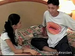 Amateur Asian with big tits loving fucking her boy
