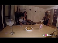 Jordi has her one las threesome at FAKings with amazing MILFS Siona and Lucia