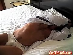 Hot jock with sweet but enjoys while boss platy...