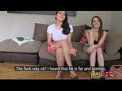 FakeAgentUK Two girls happy to fuck him for a p...