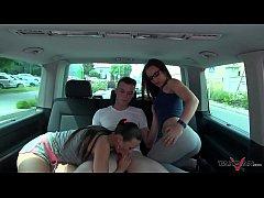 Mea Melone & Wendy Moon find cute guy on the street and fuck him hard