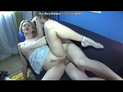 Hot blonde chick gets trimmed pussy and mouth filled