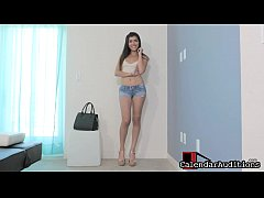 Young chick Olivia strips and enjoys casting