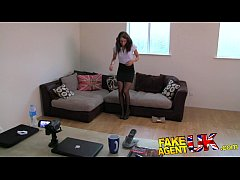 FakeAgentUK Perfect british brunette gets deep ...