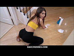 Cute Young PAWG Brunette Stepdaughter Joseline Kelly Has Sex With Stepdad On Floor To Use His Car POV