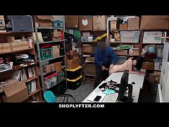 Shoplyfter - Pale Skinny Teen Banned & Fucked F...