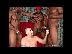 Three black dudes sharing...