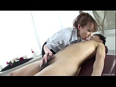 Gorgeous Anna gives a great massage for her hor...