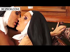Two lesbian nuns playing...