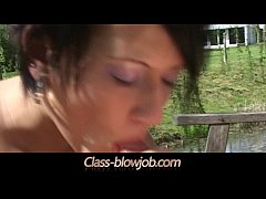 Sexy shorthair brunette Carmen blowing nice his...