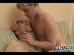 Gay Barebacked Couple does Felching and Swappin...