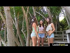 Cute Teen Hot Lez Girls Playing With Their Bodies clip-07