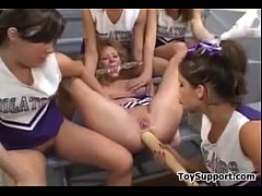 Dominating Cheerleaders With A Lot Of Toys