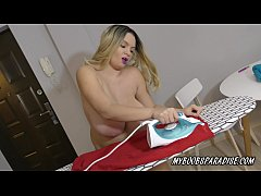 Busty ironing with Kitty Cute