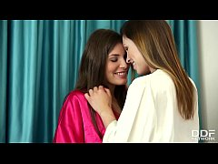 Lesbo sleepover leads to intense fingering with...