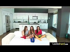 Cute Teen Hot Lez Girls Playing With Their Bodies clip-11