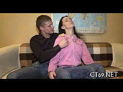 Teen fucking action with a honey