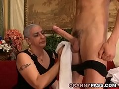 Granny Expereinces Anal With...