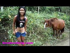 Clip sex Heather Deep 4 wheeling on scary fast quad and Peeing next to horses in the jungle youtube version