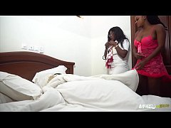 big ass ebony dressed up as a nurse to fuck mar...