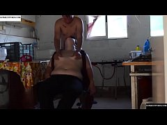 Horny afternoon in a chair. JAV022