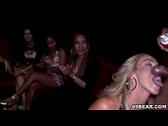Crazy girls enjoying male stripper party