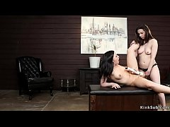 Lesbian couple fuck cleaning lady