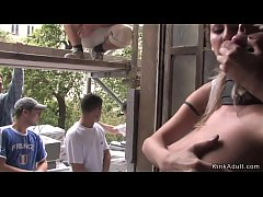 Czech beauty fondled in public