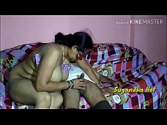 horny Sugandha bhabhi hard fucking with her father in law absence her husbandon New sofa