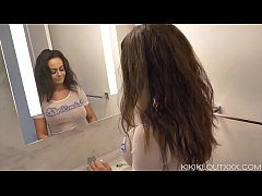 Big Titty Milf Kiki Amateur Morning Routine in Bathroom