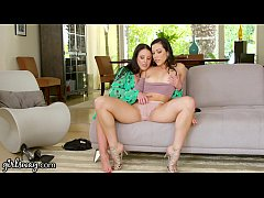GIRLSWAY Therapist Angela White Scissors with Sex Frustrated Babe