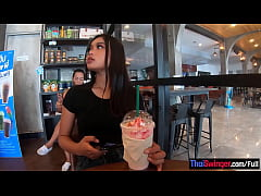 Starbucks coffee date with gorgeous big ass Asi...
