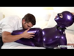 Submissive Latex Lucy spanked, fingered and dom...