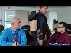 Spex office bottom rides dick in cowboy