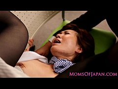 Mature Japanese hairy clit and ass toying