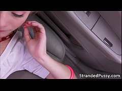 Pretty blonde chick Maddy Rose gets her teen pu...