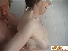Old couple have a hardcore fucking action