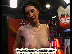 Brunette MILF gets her pretty face covered with jizz