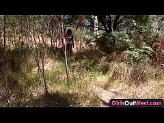 Girls Out West - Aussie lesbian babes give rimj...