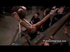 All girl most intense bondage and bdsm in public