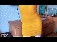 Babe Deepthroat and Cowgirl on Dick in Yellow Dress and Torn Tights
