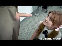 Miley Cole Giving Blowjob and Drilled by Large ...