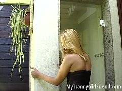 Hot blond tranny dances...